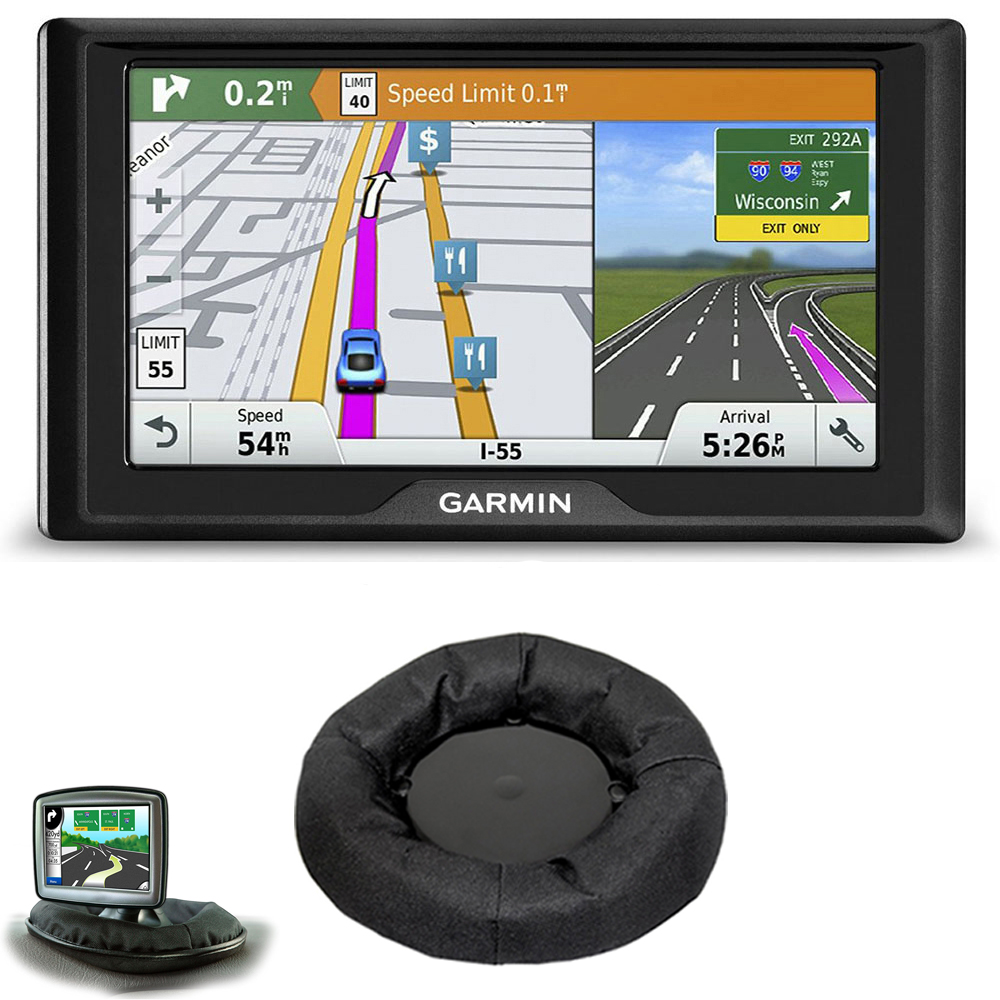 Garmin Drive 60LMT GPS Navigator (US Only) Dash Mount Bundle includes Garmin Drive 60LMT and Universal GPS Navigation Dash-Mount