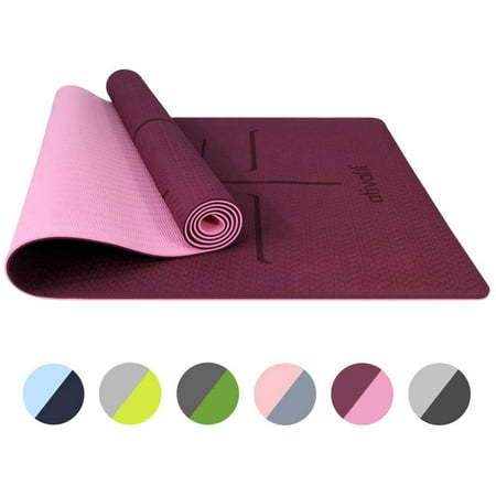 ATIVAFIT Non Slip TPE Yoga Mat Eco Friendly Exercise & Workout Mat with Carrying Strap Types of Yoga, Extra Large Exercise - 72x24x0.24 Inch