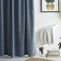 MoDRN Neo Luxury Corduroy Shower Curtain