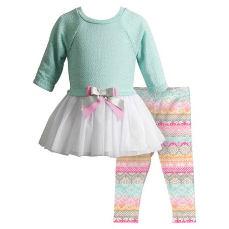 Youngland Green - youngland girls 12-24 months lace legging set (mint 18 months)