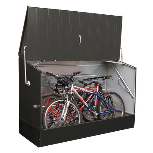 Rowlinson 6.5 ft. W x 3 ft. D Metal Horizontal Bike Shed