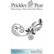 Prickley Pear Cling Stamps 4.25 Inch X 3 Inch-Penguin Flourish
