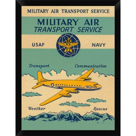 East Urban Home Military Air Transport Service Framed Graphic Art Print