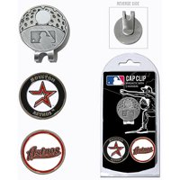 Team Golf MLB Houston Astros Cap Clip With 2 Golf Ball Markers