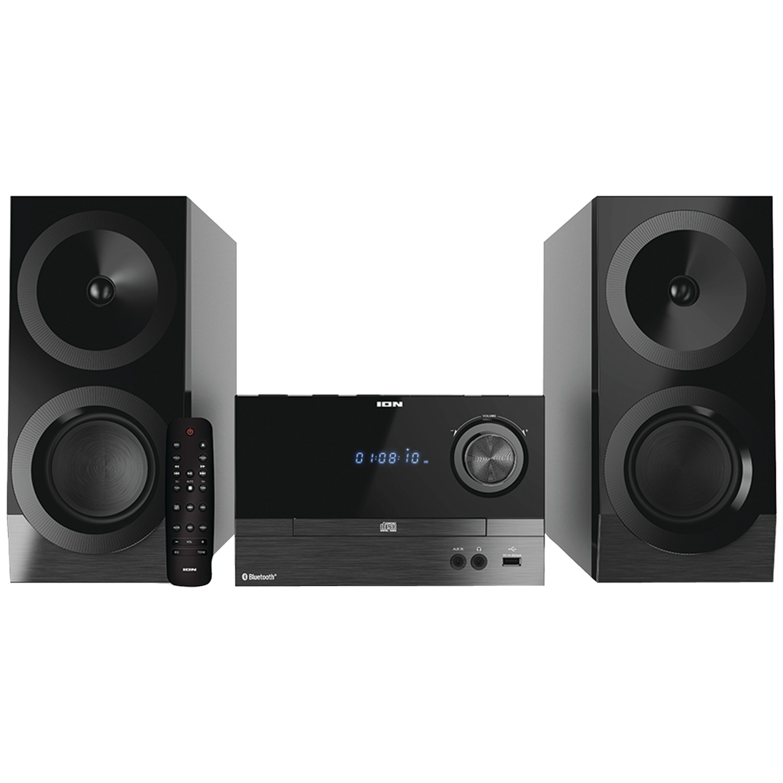 ION IAS01 Compact Bluetooth Shelf Hi-Fi FM Stereo System with CD Player
