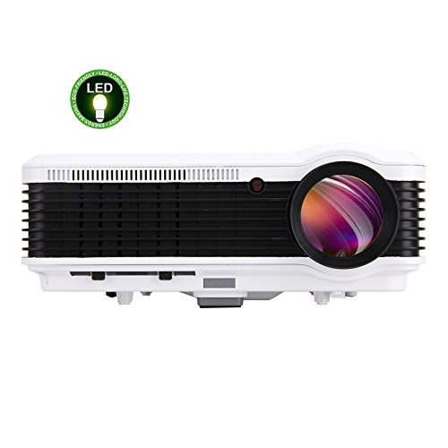EUG 5.8  TFT 3600 Lumens Portable Hd Projector Full 3d LCD Home Theater System Hdmi Projector 1080p for Movie Video Game