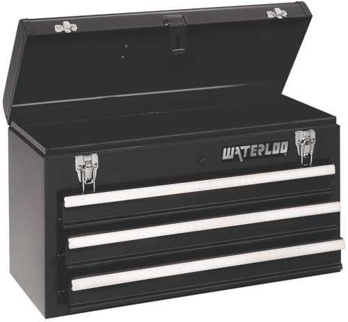 waterloo 3 drawer steel portable chest - walmart