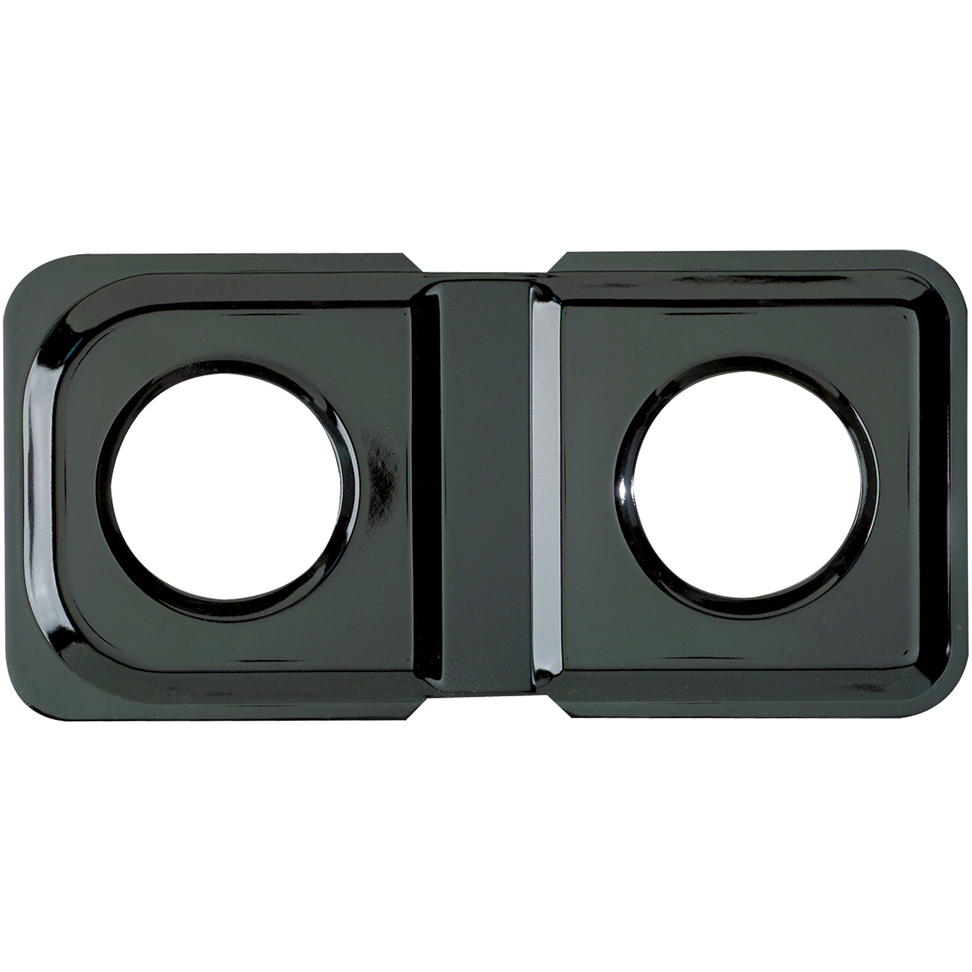 Range Kleen 1-Piece Drip Pan, Style K fits rectangle Burner Gas Ranges Amana/GE/Hotpoint/Kenmore/Magic Chef/Maytag, Black Porcelain