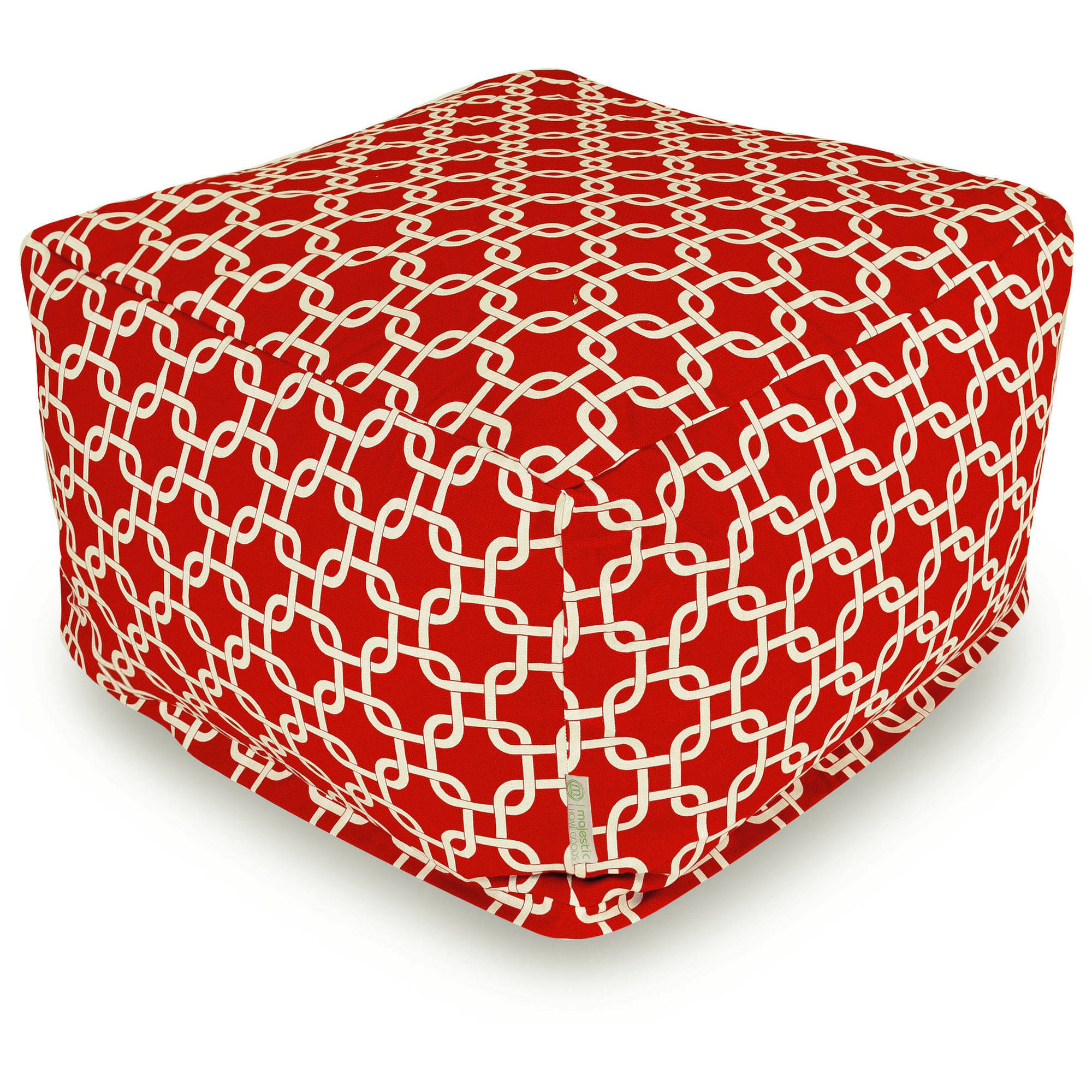 Majestic Home Goods Links Bean Bag Ottoman, Indoor/Outdoor