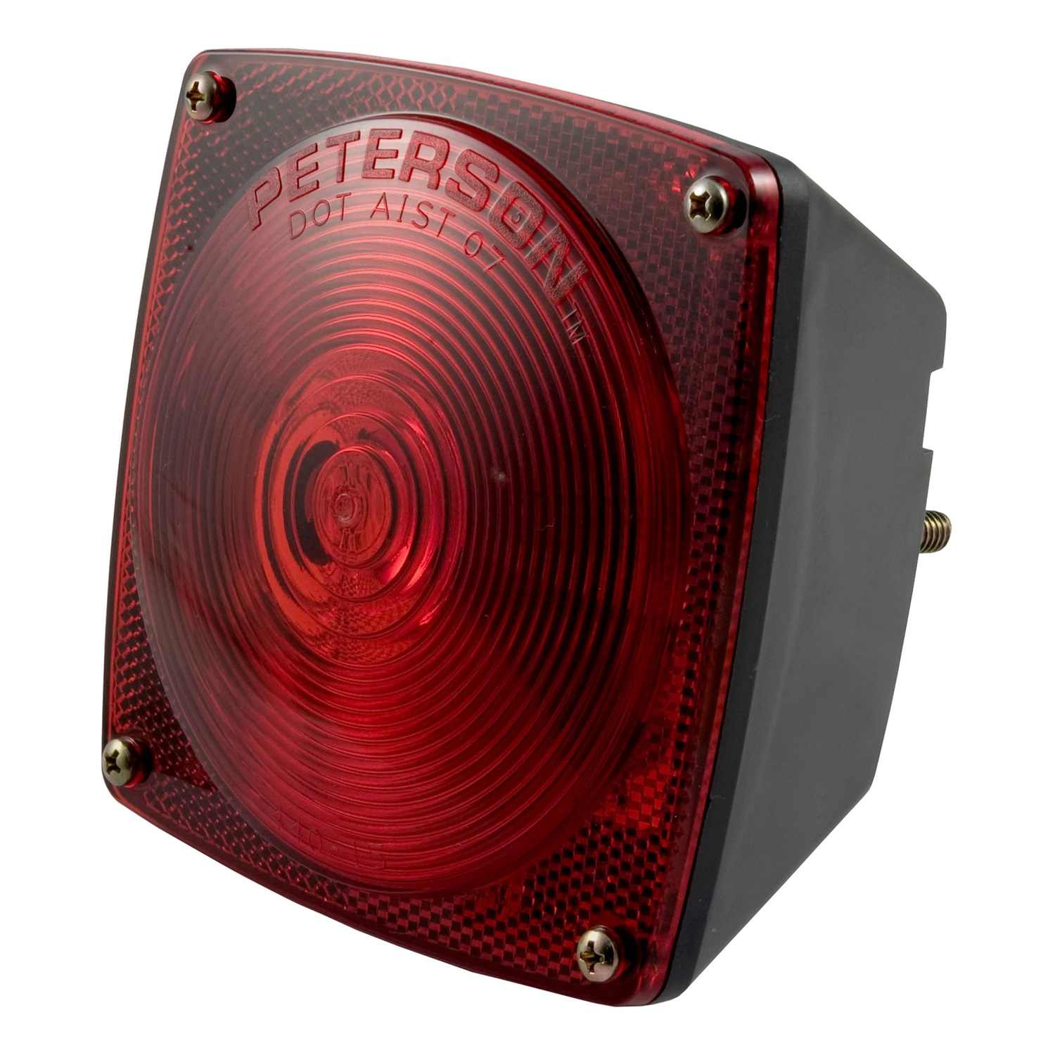 Curt Manufacturing Cur53441 Red Combination Light with Out License Illuminator, Left Side