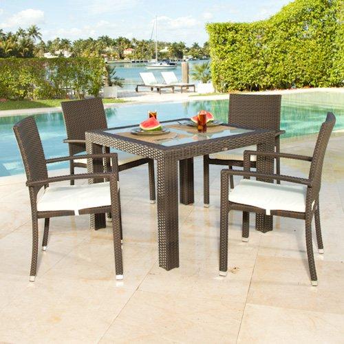 Source Outdoor Zen All-Weather Wicker Patio Dining Set - Seats 4