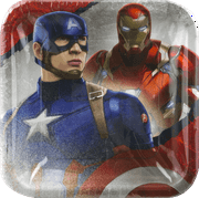Captain America: Civil War Party Paper Square Plates, 8ct