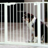 "Command Pressure Dog Gate Extension, White, 1.25""L x 5.50""W x 29.50""H"