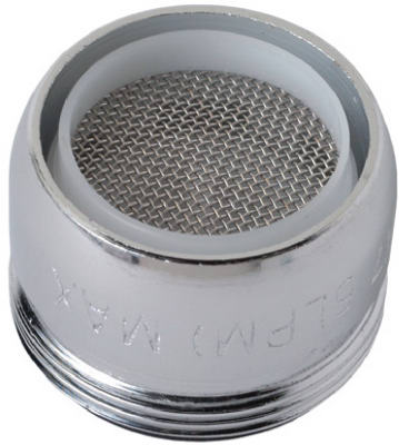 BRASS CRAFT SERVICE PARTS Faucet Aerator, Dual Thread, Slotless, Chrome-Plated Brass, 5/16-In. x 27 & 55/64-In. x 27
