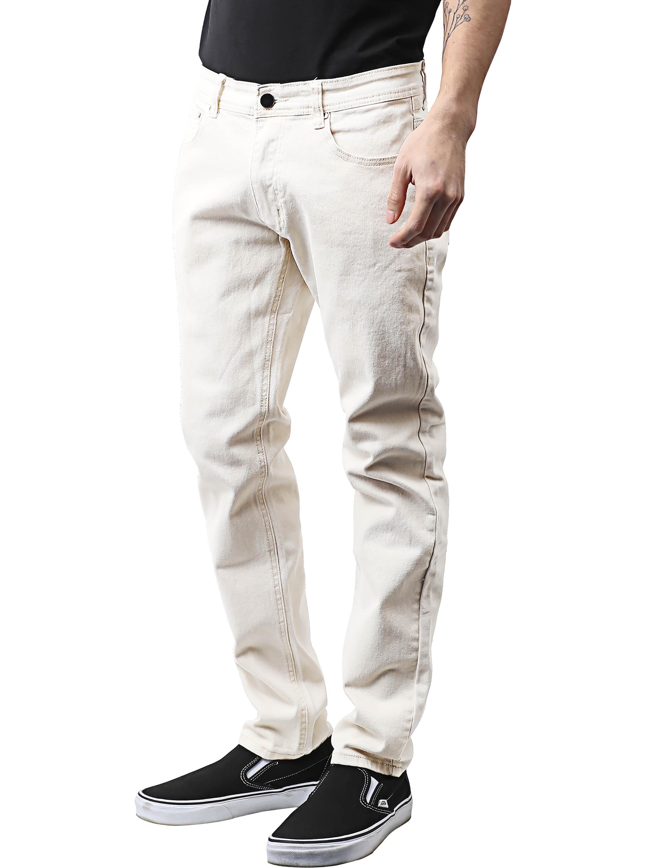 Mens Skinny Jeans Stretch Skinny Fit Slim Denim Pants