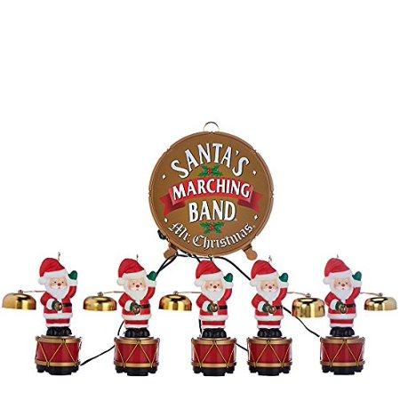 mr christmas santas marching band musical figurines 35 christmas carols played with real copper