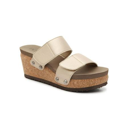 Gold Gem Wedge - Corkys Womens Shaw Wedge Platform Sandal (Gold, 9)