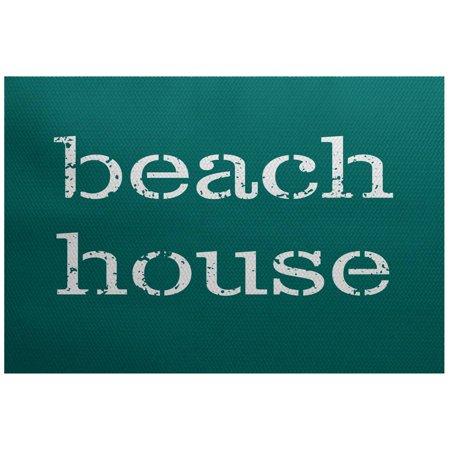 Simply Daisy 3' x 5' Beach House Word Print Indoor Rug (Rugs For Beach House)