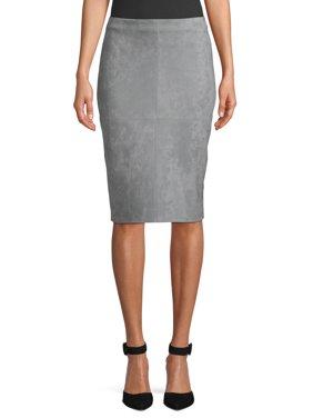 Women's Faux Suede Pencil Skirt