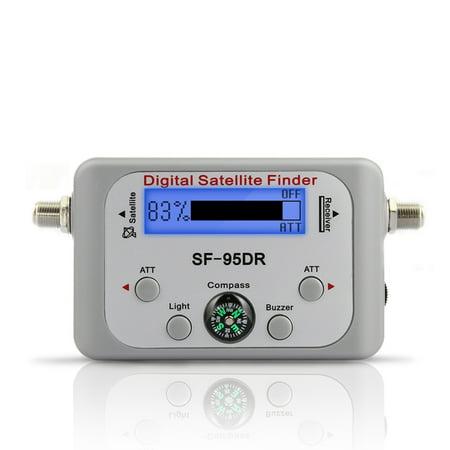 TV Receiver Decoder Digital Satellite Finder Signal Meter for Directv Dish Network FTA Signal Pointer