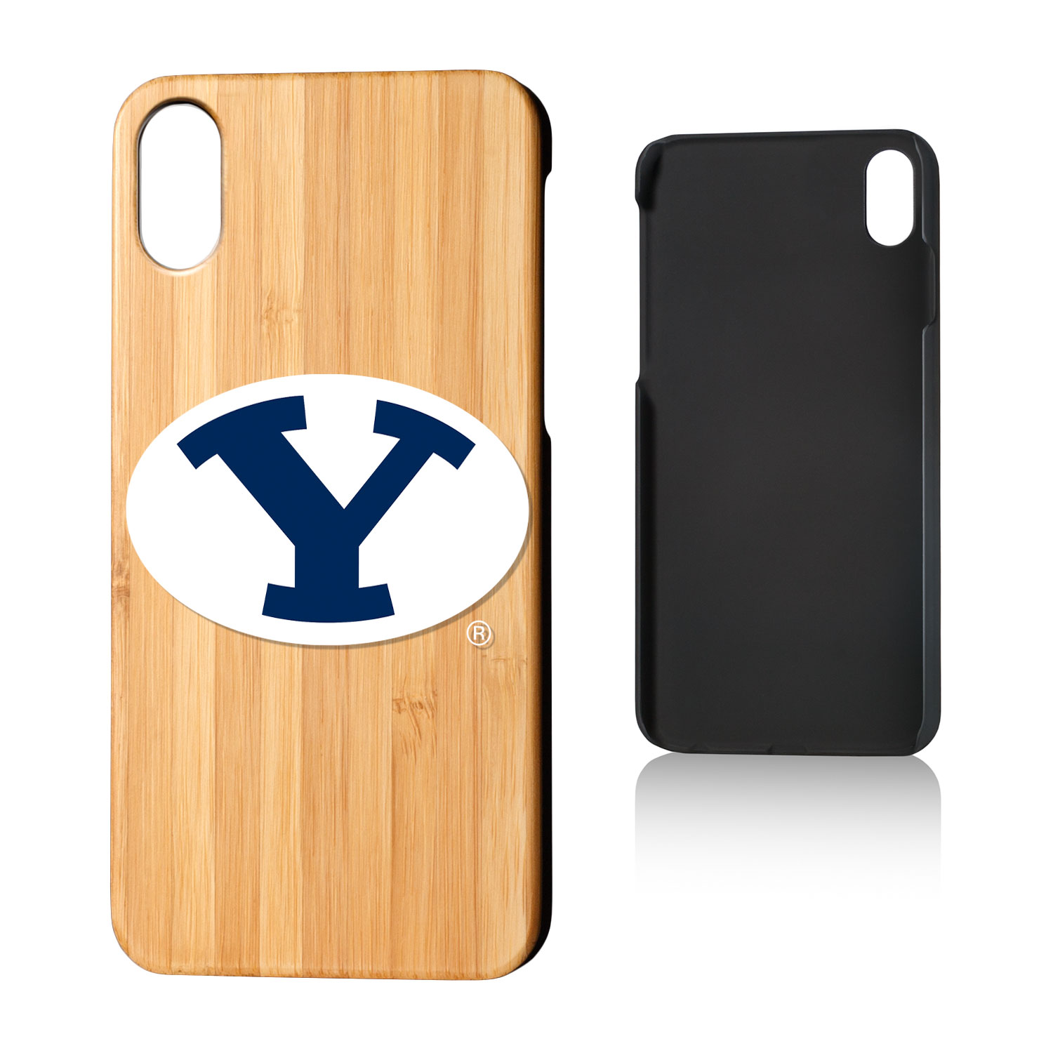 BYU Brigham Young Cougars Insignia Bamboo Case for iPhone X