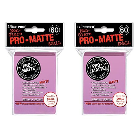 120 Ultra Pro Pink SMALL PRO-MATTE Deck Protectors Sleeves Colors Yugioh Vanguard [2 Packs of 60] - image 1 of 1