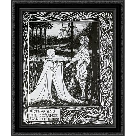 Arthur and the Strange Mantle 20x24 Black Ornate Wood Framed Canvas Art by Beardsley, Aubrey ()