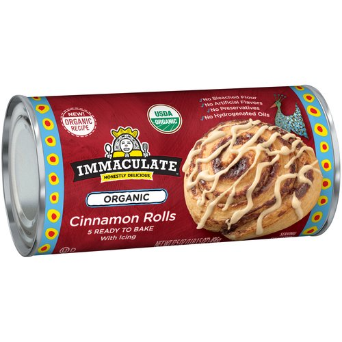 Immaculate Cinnamon Rolls with Icing, 5 count, 17.5 oz