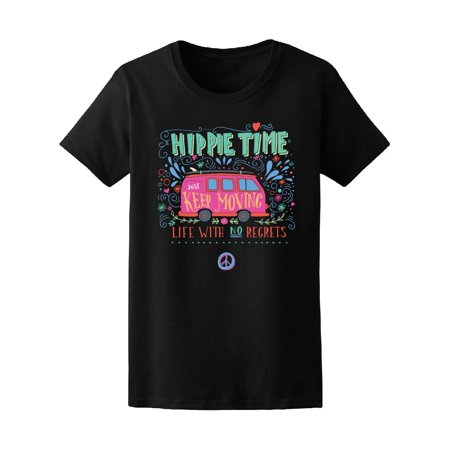Vintage Hippie Time Keep Moving Tee Women's -Image by -