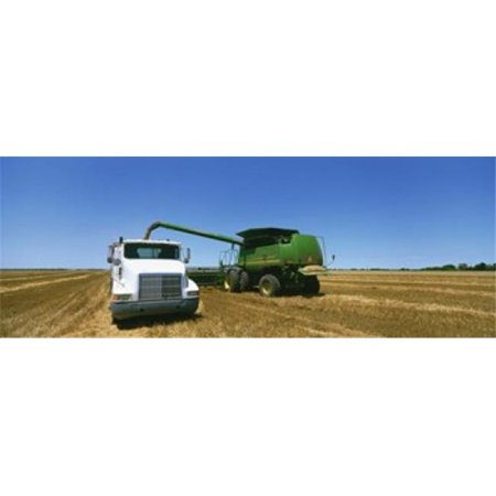 Panoramic Images PPI94196L Combine in a wheat field  Kearney County  Nebraska  USA Poster Print by Panoramic Images - 36 x 12 - image 1 of 1