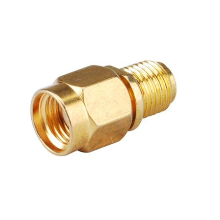 2pcs RF Coaxial Connector Adapter Reversed Polarity SMA Male Plug to Reversed Polarity SMA Female Jack Straight Reverse Polarity Connector