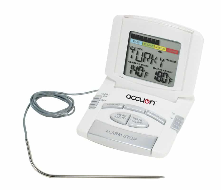 Accuon Digital Programmed Instant-read Cooking Thermometer with Probe by Accuon