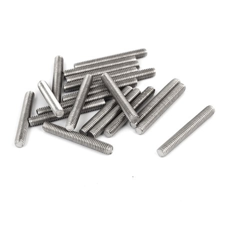 M4 x 30mm 304 Stainless Steel Fully Male Threaded Rod Bars Silver Tone 20 Pcs 8 Stainless Steel Threaded Rod