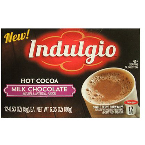 Indulgio Milk Chocolate Hot Cocoa Single Serve 12ct by Trilliant Food
