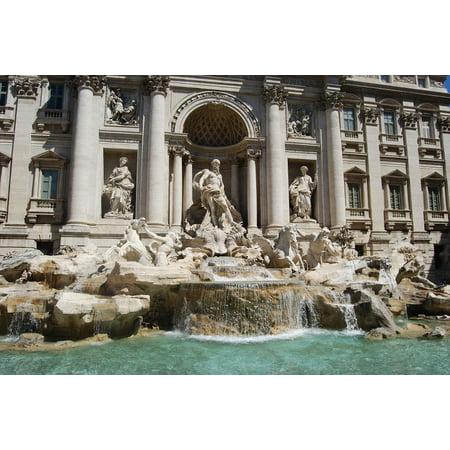 LAMINATED POSTER Trevi Fountain Italian Fountain Roma Rome Poster Print 24 x 36