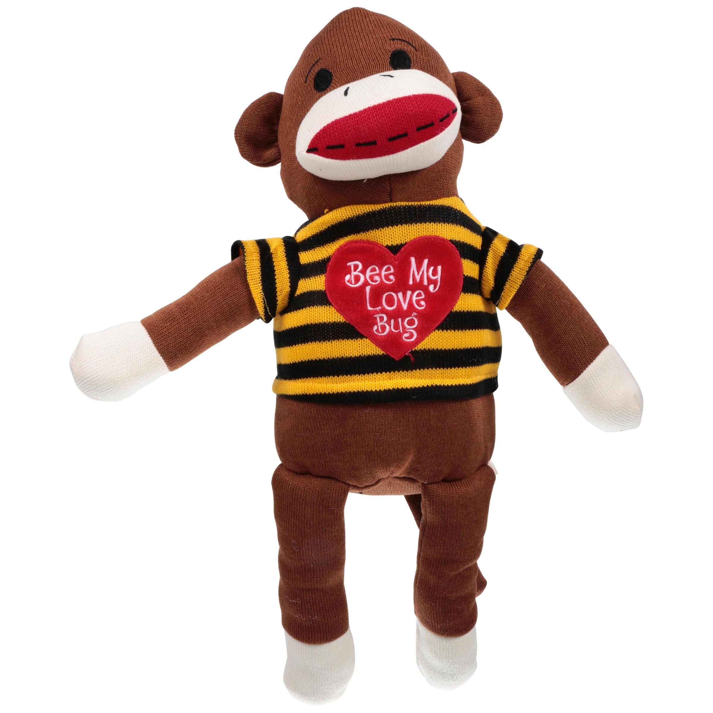 Dan Dee Sock Monkey Stuffed Animal Walmart Com