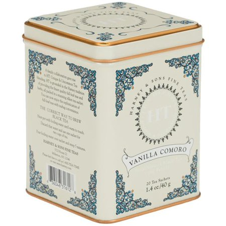 Harney & Sons, Vanilla Comoro, Decaffeinated Black Tea with Vanilla, 20 Ct