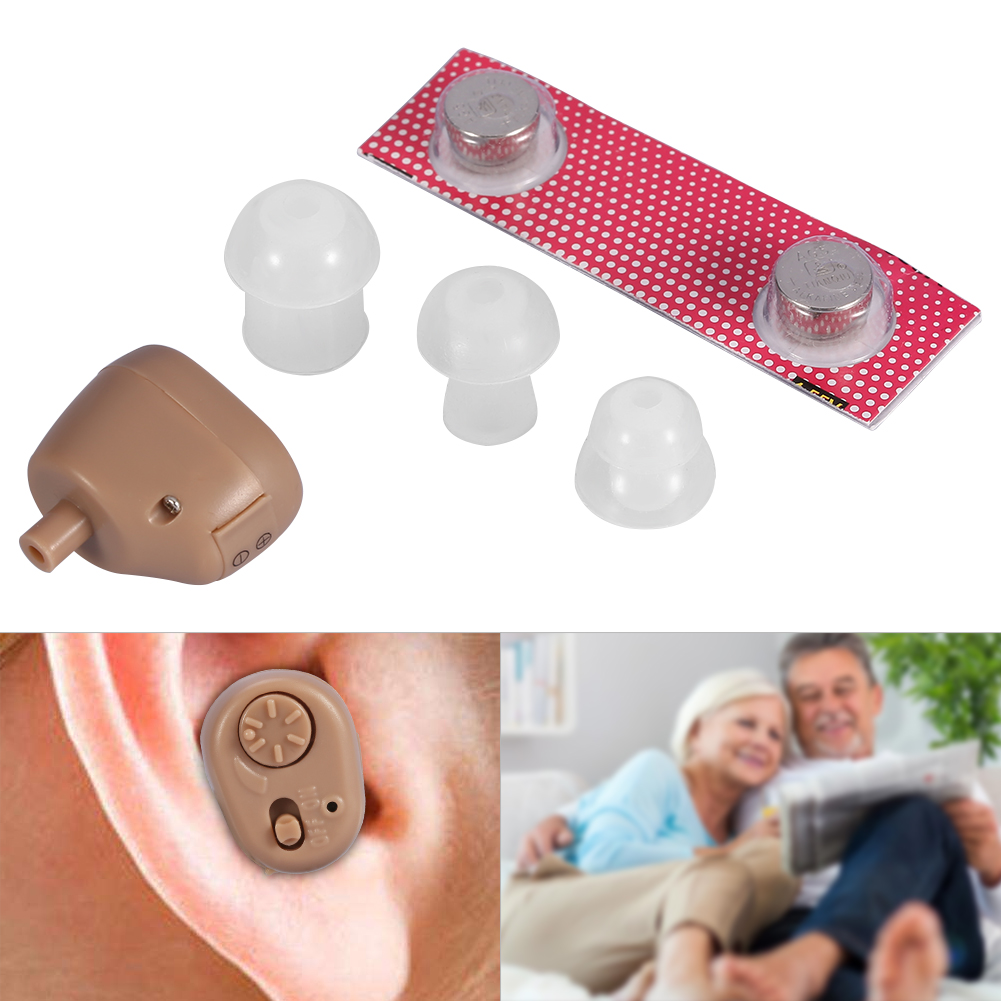 EECOO Mini Digital Hearing Aid,Mini In Ear Digital Hearing Aid Adjustable Volume Sound Amplifier for The Elderly Deaf,Sound Amplifier