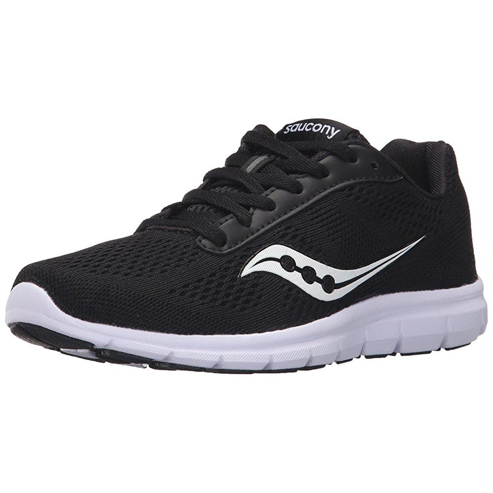 Saucony women's grid ideal running shoe, black/white, 8 m us