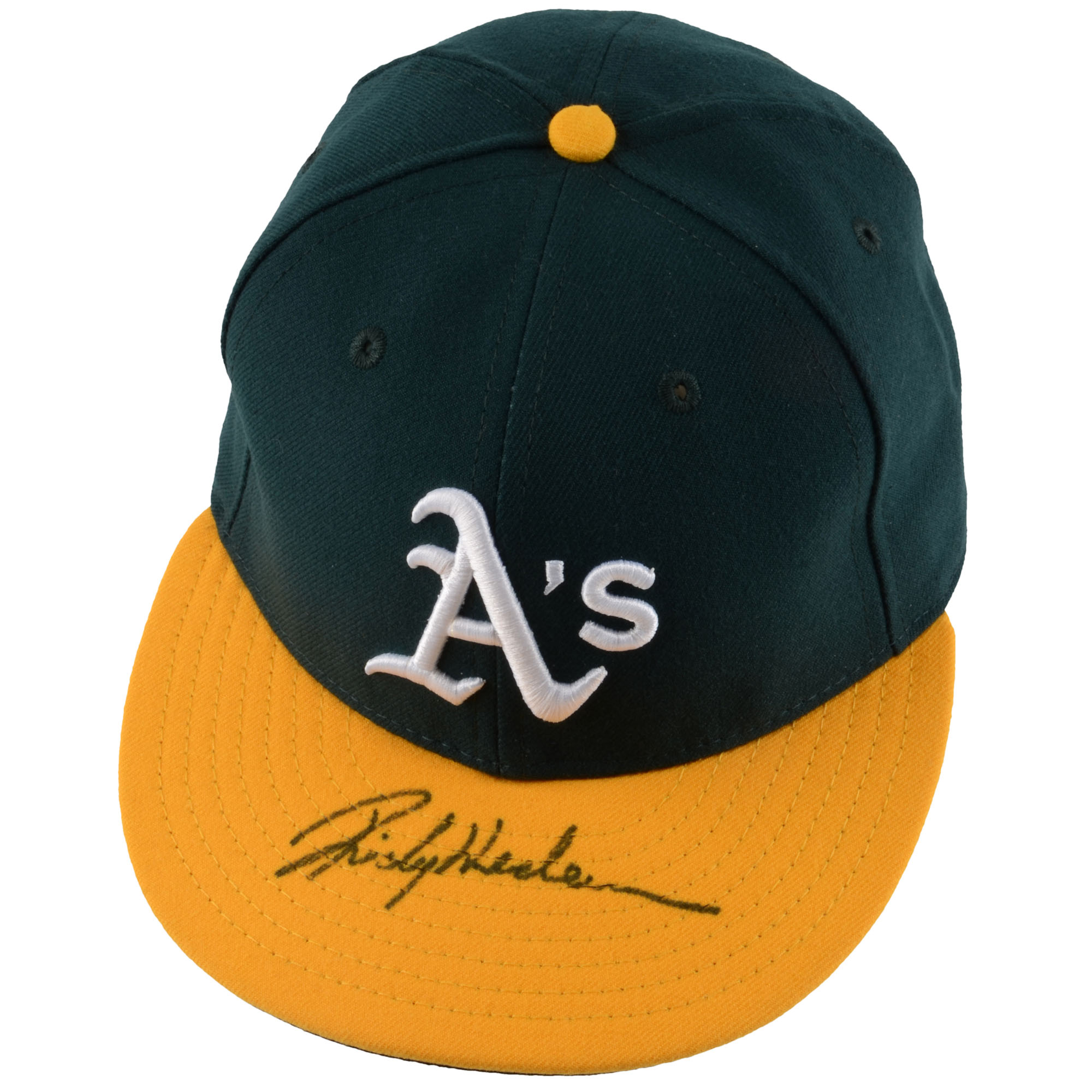 Rickey Henderson Oakland Athletics Fanatics Authentic Autographed New Era Cap - No Size