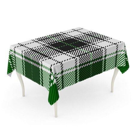 Awesome Laddke Black Green Scottish Woven Tartan Plaid Printing Pattern White Abstract Checkered Clan Tablecloth Table Desk Cover Home Party Decor 52X70 Inch Bralicious Painted Fabric Chair Ideas Braliciousco