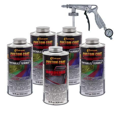 Bed Liner Spray >> Bed Liner Custom Coat Tintable 4 L Urethane Spray On Truck Kit W Free Spray Gun