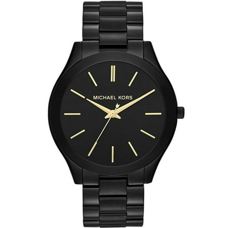 Women's Classic Black-Tone Stainless Steel Bracelet (Black Ion Stainless Steel Watch)