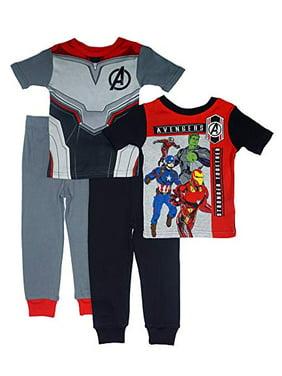 Marvel Little/Big Boys' Avengers Infinity War Four-Piece Pajama Set (Black, 8)