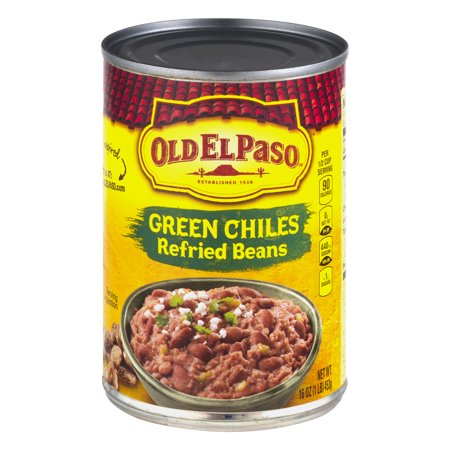Old El Paso  Green Chiles Refried Beans 16 Oz