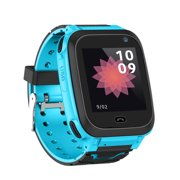 Kids Intelligent Smart Watch with SIM Card Slot 1.44 inch IPX7 Waterproof Touching Screen Children Smartwatch with GPS Tracking Function SOS Call Voice Chat Alarm Clock Compatible