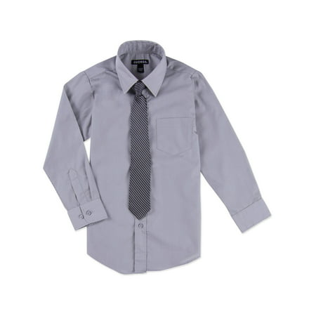 George Boys Packaged Dress Shirt-Tie - Boys Dress Shorts