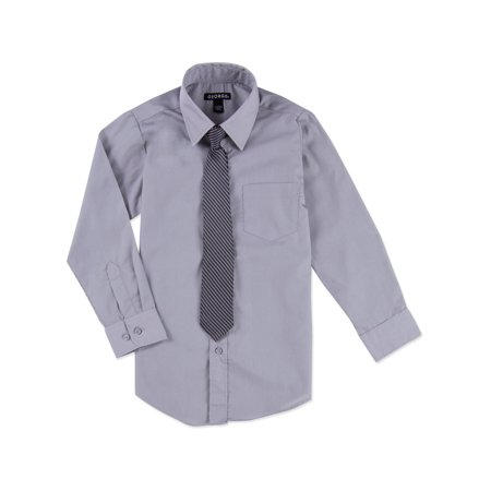 - George Boys Packaged Dress Shirt-Tie