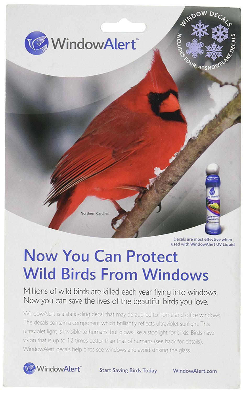Window Alert Snowflake Decals Protect Wild Birds Walmartcom - Window decals for birds