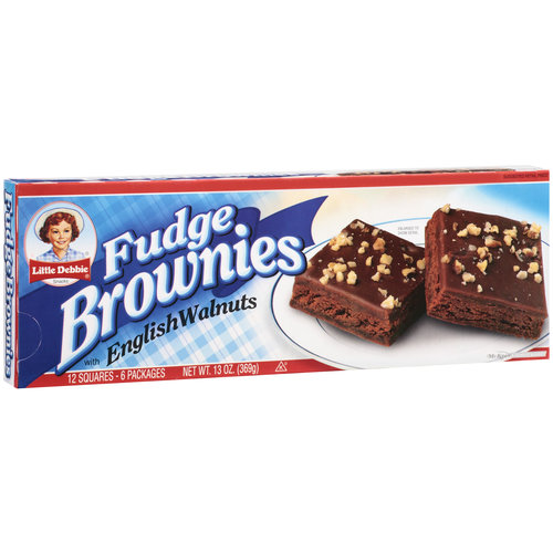 Little Debbie Snacks Fudge Brownies With English Walnuts, 6ct